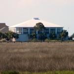 Blue House Overlooking Marsh