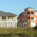 Yellow and Tan Houses